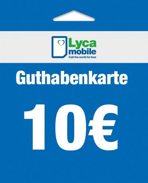 10 € - Lycamobile Auflade-Karte