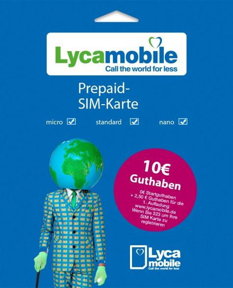 SIM-Karte mit 10.00 € Guthaben