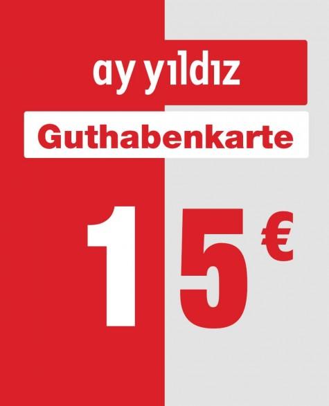 15 € - Ay Yildiz Auflade-Karte
